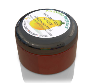100% organic & sustainably wild-crafted ingredients.  Sensitive, Blemished & Rosacea Soothing, Calming, gentle Exfoliation Mask.  Deep cleans environmental pollutants and toxins from the skin, while removing dead skin layers, allowing treatment serums to penetrate further into the skin.  Works via gentle Paypaya enzymes and soothing Black Honey.  Reveal new, healthier looking skin today!  View 1