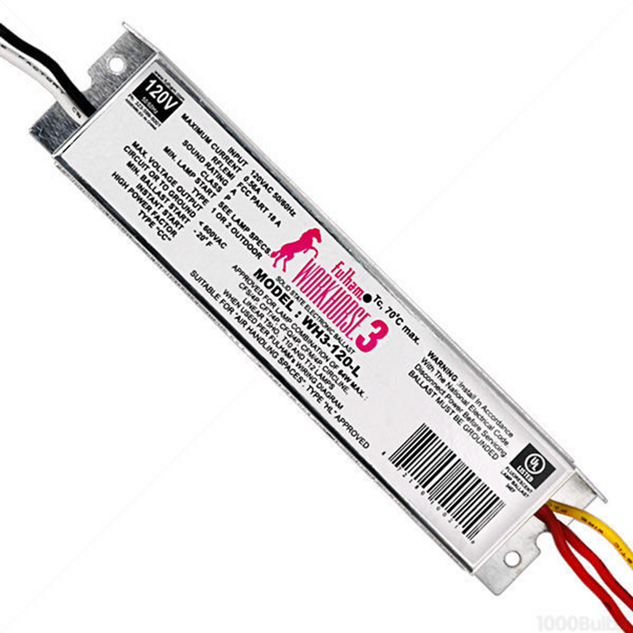 fulham workhorse wh3 120 l electronic fluorescent ballast 120 voltfulham wh3 120 l workhorse electronic fluorescent ballast 120 volt