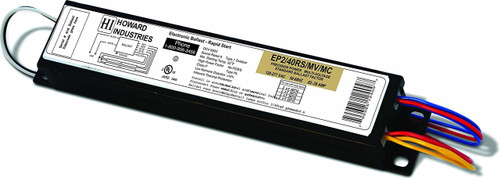 Howard EP2/40RS/MV/MC Fluorescent Light Ballast* Powers 2 F40T12 Lamps * 120/277 Volts