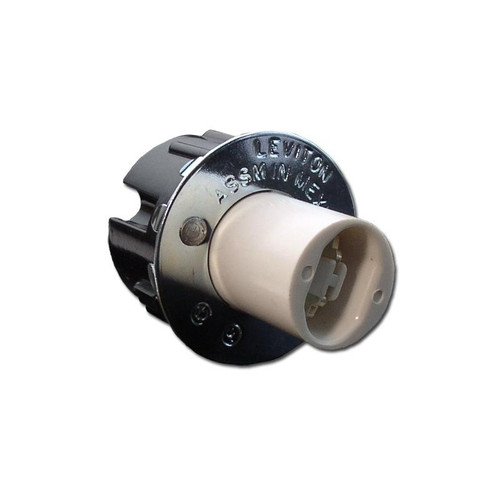 Leviton 523 Non Shunted RDC (HO/VHO Lamps), Fluorescent-LED, Snap in, Spring Loaded Lamp Holder