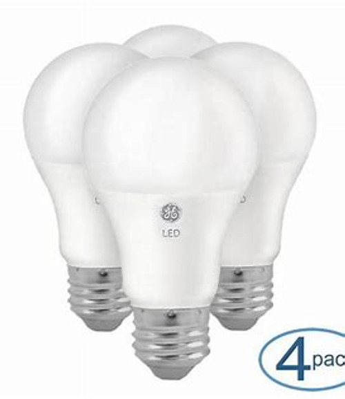 GE 32943 4- Pack 10 Watt A19 2700K Soft White Dimmable LED Light Bulbs Replaces 60 Watt Incandescent Bulb, 120 Volts