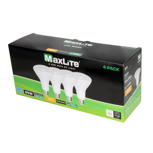 Maxlite BR30  LED Flood Light Bulb 4 Pack 2700K Warm White