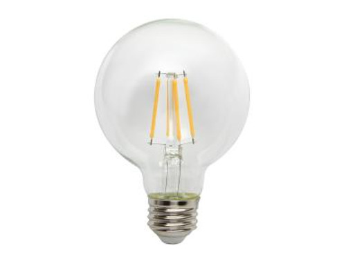 Maxlite EF3G25D50 3 Watt LED Clear Filament Bulb Medium Base 5000K G25 Shape Dimmable Wet Location