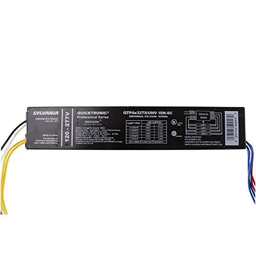 Osram Sylvania 49947 Qtp4 4 Lamp 120-277V Ballast for 32W T8 Fluorescent Light Bulb