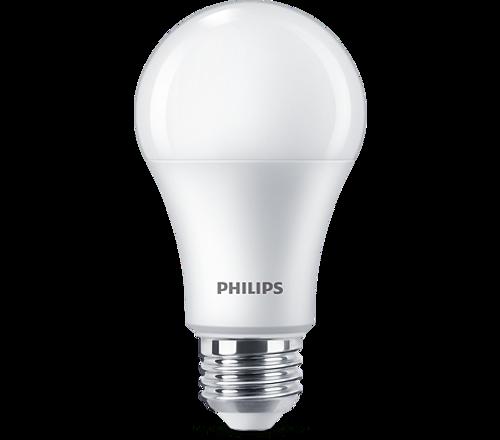 Philips 2-PK 10A19/LED/827/FR/P/ND 10 Watt A19 4000K LED Light Bulbs Replaces 60 Watt Incandescent Bulb, Save Energy & Money