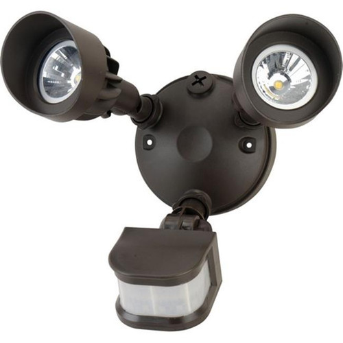 Morris Products 72568 Led Motion Activated Security Flood Lights, Dual Head, 24 Watts, Bronze, 5000K