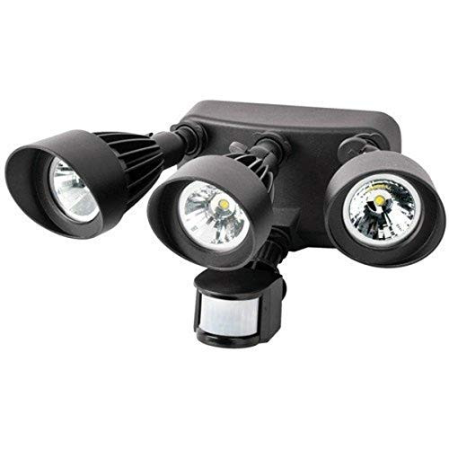 3 Head LED Security Light With Motion Activated Sensor