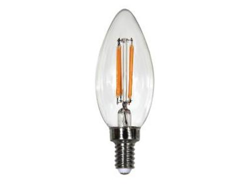 Maxlite EF4B10D927/JA8 4 Watt LED Edison Style Filament Bulb 2700K Color Temperature E12 Candelabra Base