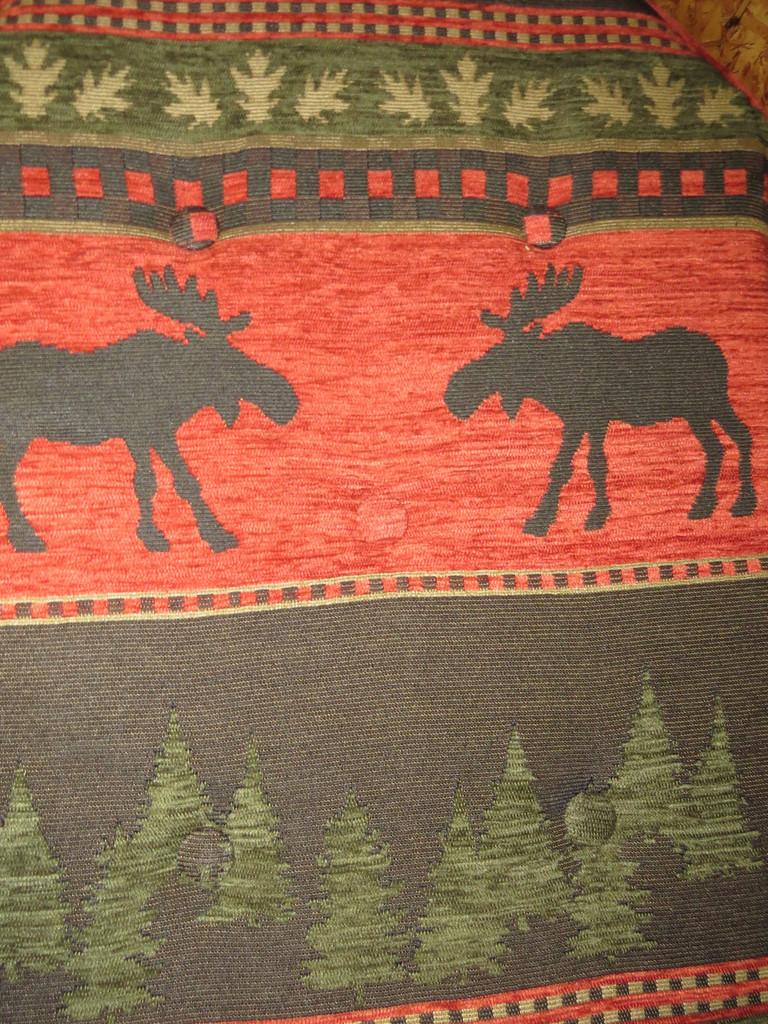 Amish Bentwood Rocker Cushion Set - Red Moose Fabric