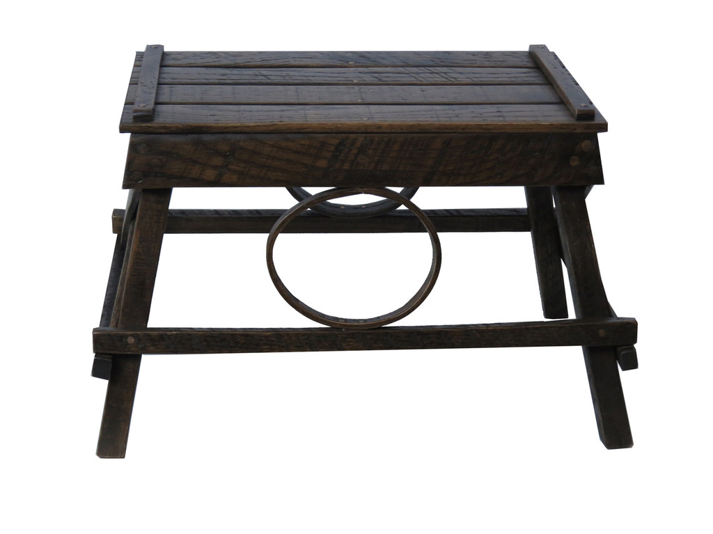 Amish Bentwood Foot Stool Walnut Stain
