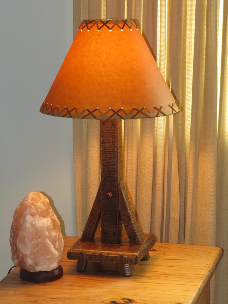 Quick Ship Amish Barnwood Table Lamp (Shade sold separately)