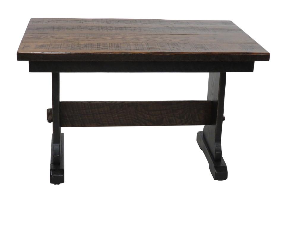 Amish Farmhouse Trestle Desk Black Rub Through Finish for your Home Office