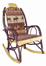 Amish Bentwood Rocker Cushion Set - Brown Moose Fabric