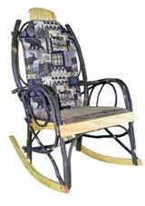 Amish Bentwood Rocker Cushion Set - Woodsman Fabric