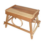 Amish Bentwood Foot Stool - Solid Hickory