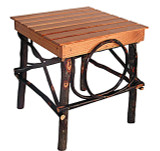 Amish Bentwood Side Table - Hickory & Oak