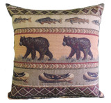 Premium Rustic Throw Pillow COVER ONLY- Bear Creek
