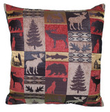 Premium Rustic Throw Pillow COVER ONLY- Red Cabin
