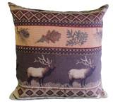 Premium Rustic Throw Pillow COVER ONLY- Elk Run