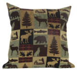 Premium Rustic Throw Pillow COVER ONLY- Brown Cabin
