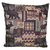 Premium Rustic Throw Pillow - Woodsman