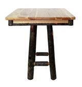 """Rustic Hickory 36"""" Square 36"""" High Pub Table"""