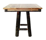 """Rustic Hickory 36"""" Square or Round (30"""" high) Dining Table- Square Base"""