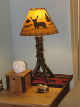 Quick Ship Amish Bentwood Hickory Table Lamp (shade sold separately)