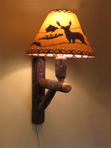 Quick Ship Rustic Hickory Wall Sconce Lamp (Shade sold Separately)