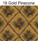 19 Gold Pine Cone Fabric
