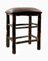 """24"""" or 30"""" Hickory Bar Stools Upholstered Seat - Changeable Top"""