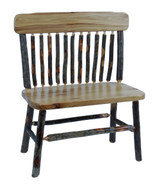 Rustic Hickory Child's Deacon Bench