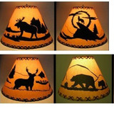 Faux Oil Kraft Laced Lamp Shade