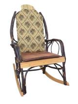 Amish Bentwood Rocker Cushion Set - Golden Pine Cone Fabric