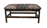 Barnwood Upholstered Bench with  Real Tree Canvas Fabric