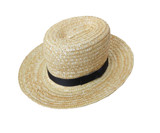 Child's Authentic Amish Straw Hat size 6 7/8 USA Made Kids