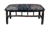 Rustic Hickory Hunting Camp Bench with Spindles Real Tree Upholstery