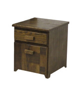 Amish Barnwood File Cabinet with the Side Filing System