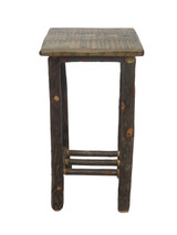 Rustic Hickory & Barnwood Tall Side Table