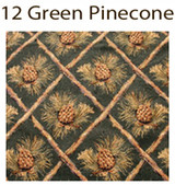 12 Green Pine Cone