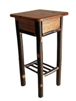 Rustic Solid Hickory Tall Side Table