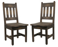 Set of 2 Barnwood Dining Chairs