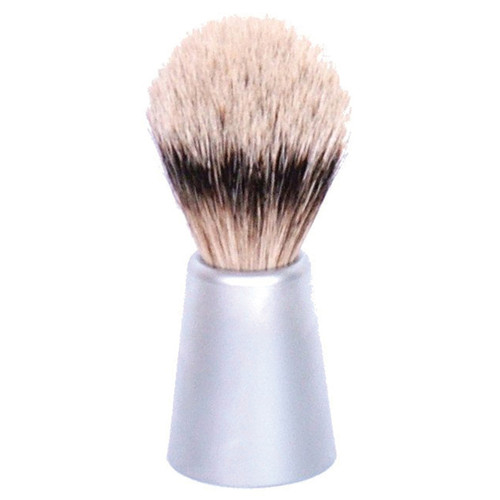Badger Brush with Matt Chrome Handle