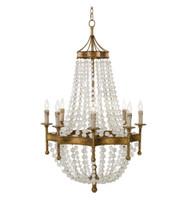 8 Light - Chandelier with Frosted Crystals