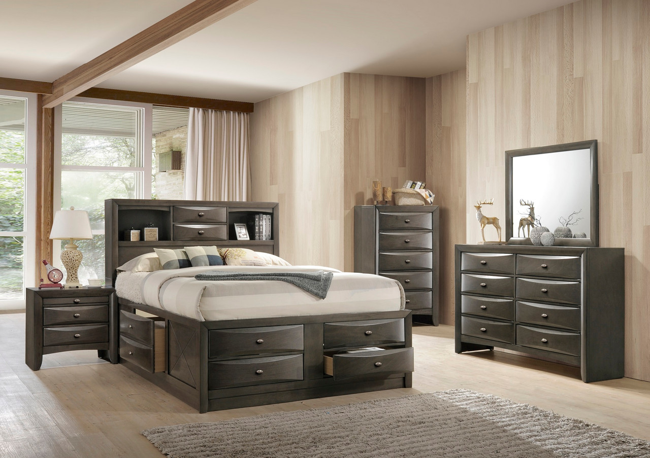Emily Grey Bedroom Suite Queen Size