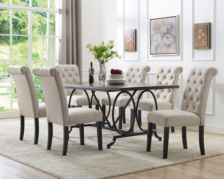 Ringa Dining Table Set Beige - 7 Pieces