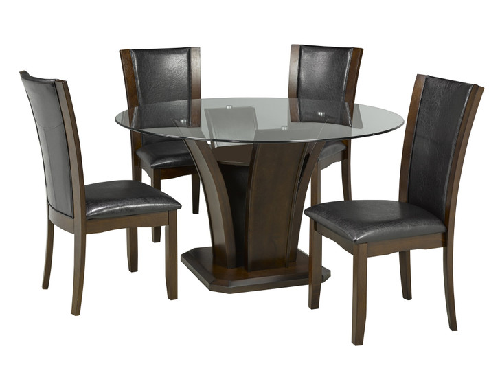 Camella Round Glass Dining Set - 5 Pieces