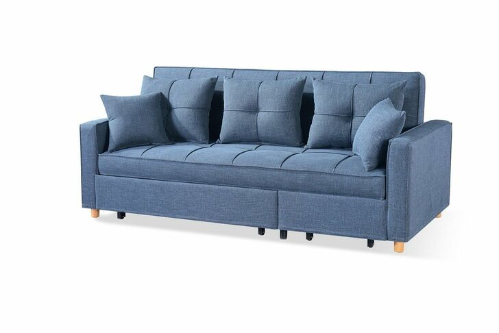 Loft Sofa Sleeper Sectional - Navy Blue