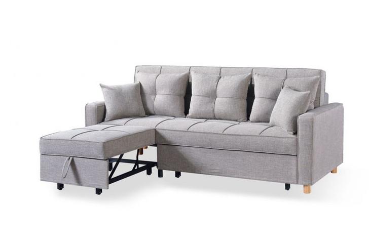 Loft Sofa Sleeper Sectional - Grey