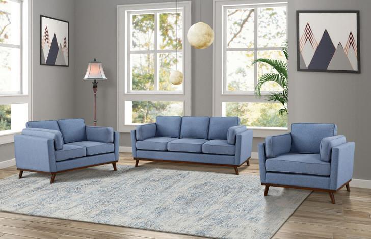 Jaxson 3 Pcs. Sofa Set - Sofa, Loveseat and Chair